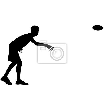 Disc Golf Silhouette Disc Golf Clipart Disc Golf Sport Vektor