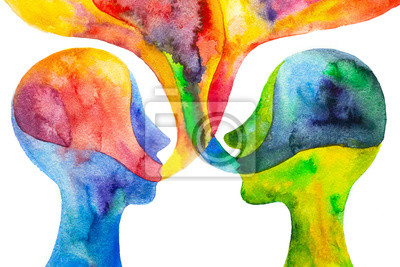 Bild disegno grafico dialogo tra due persone