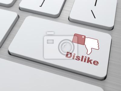 Dislike Button - Social Media-Konzept.