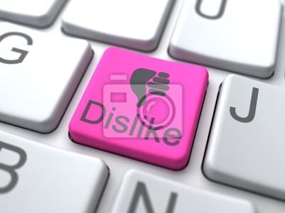 Dislike Web Button. Social Media-Konzept.