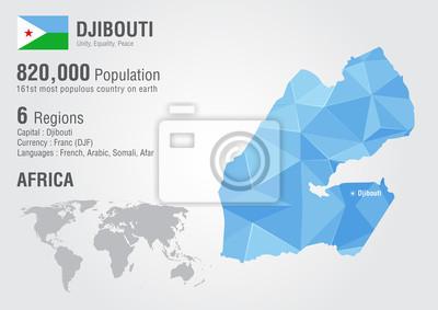 Djibouti Africa Map on