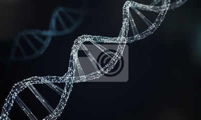 Bild DNA helix for concept of Digital Genetic engineering and gene manipulation