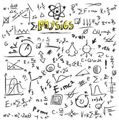Bild Doodle physics formulas background, texture and pattern