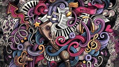 Bild Doodles Music illustration. Creative musical background