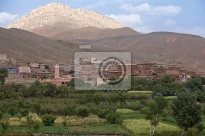 Dorf in Marokko.