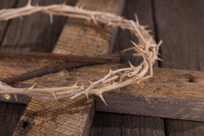 Bild Dornenkrone am Kreuz