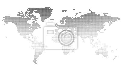Bild Dotted World Map - grey