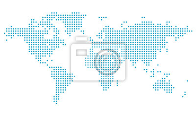 Bild Dotted world map,map template for web site pattern,  infographics. Globe similar world map icon. Travel worldwide, map silhouette backdrop.