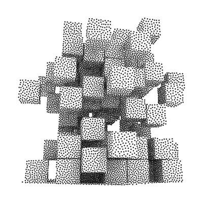 Bild Dotwork Halbton-Vektor-Boxen-Symbol