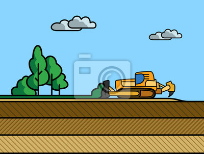 Dozer removal of the top ground layer