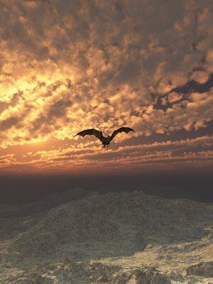 Bild Dragon Flying at Sunset
