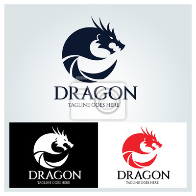 Dragon-logo-design-vorlage, dragon-fotografie-logo-design-konzept ...