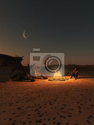Dragon Riders Camp in Firelight