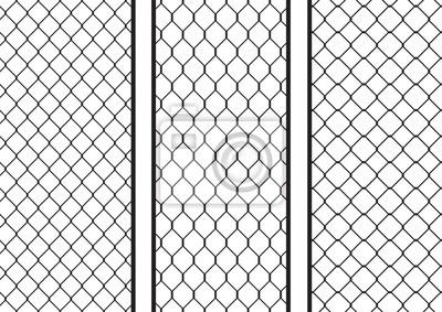 Draht-zaun-set / pack; nahtlose textur schwarz silhouette satz ...