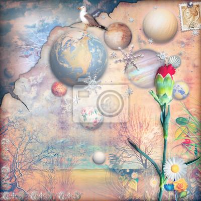 Dreams-Tal mit bunten Blumen-Serie