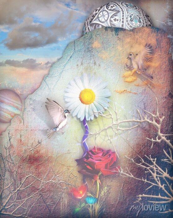 Bild Dreams-Tal mit bunten Blumen-Serie