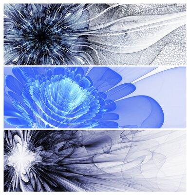 Bild Drei abstrakte Blumen baners