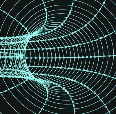 Bild Dreidimensionale abstrakte Tunnel oder Rohr