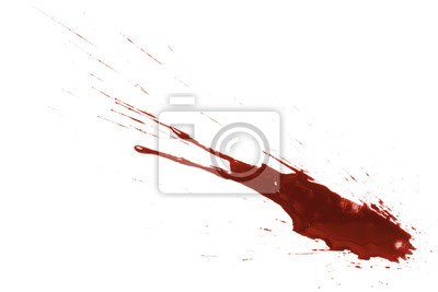 Bild Drops of blood, isolated on white background