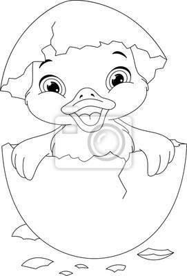 Bild Duckling Malvorlage Seite