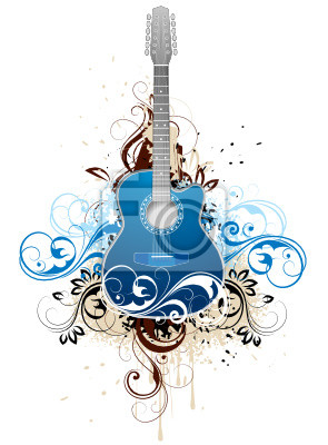 Bild Dunkelblaue Gitarre