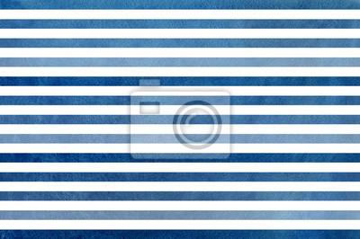 Bild Dunkelblauer gestreifter Hintergrund des Aquarells. Blaues Farbverlaufsmuster.