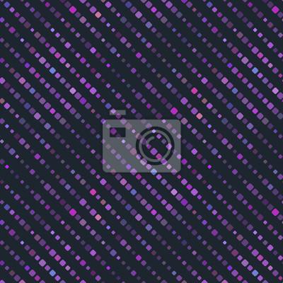 Dunkelviolett Textile Polka Pattern. Vector Background.