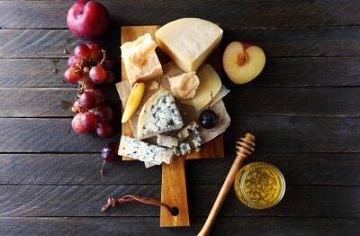 Bild Dunkle Käse Zusammensetzung