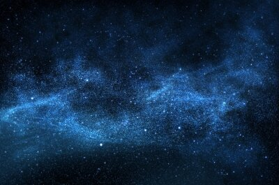 Bild Dunklen Nachthimmel mit funkelnden Sternen und Planeten, illustration