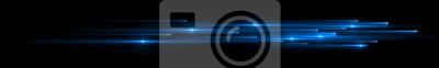 Bild Dynamic lights shape on dark background. Bright luminous glowing lines. High speed optical fiber concept. 3d rendering