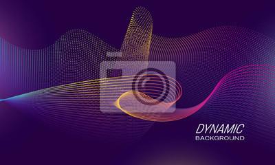 Dynamic waves background design. Music banner backdrop template.