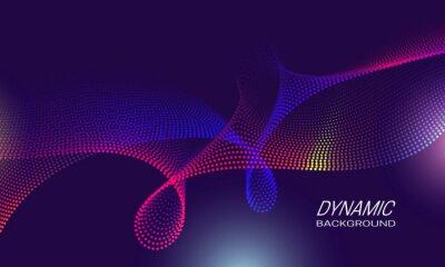 Dynamic waves background design. Poster backdrop template.