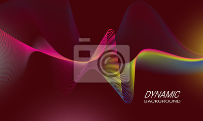 Dynamic waves background design. Sports poster backdrop template.