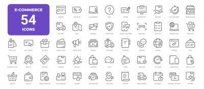 Bild E-Commerce Line Icons. Editable Stroke. Pixel Perfect.