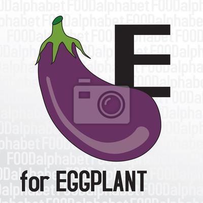 E für Auberginen, das Essen Alphabet