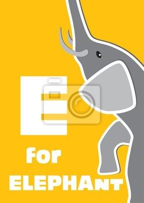 E für den Elefant, ein Tier-Alphabet für Kinder