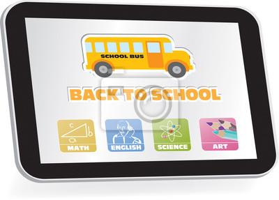 E-Learning, wieder in die Schule, Schulfächer Tasten