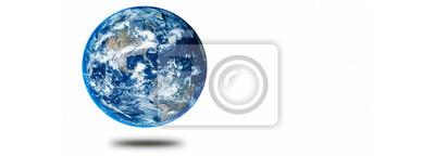 Bild Earth on white background