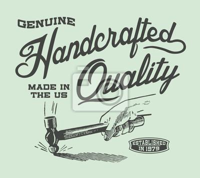 Echte Handarbeit Qualität