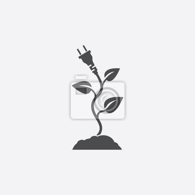 Eco elektrische stecker-symbol leinwandbilder • bilder Generika ...