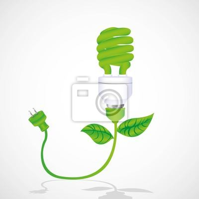 Eco-Lampe mit Kabel-, Blatt-und Stecker