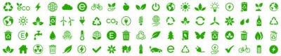 Bild Ecology icons set. Nature icon. Eco green icons. Vector