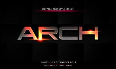Bild editable text style effect futuristic theme bright color. vector illustration template