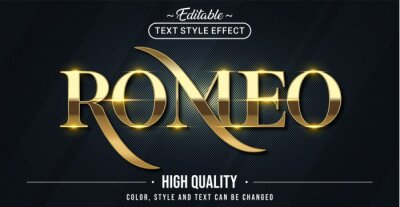 Bild Editable text style effect - Romeo text style theme.