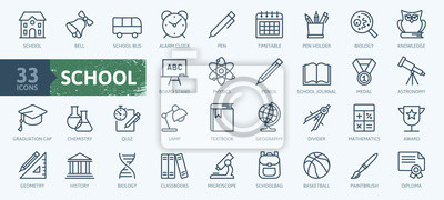 Bild Education and back to school - thin line icons set. Outline icons collection.
