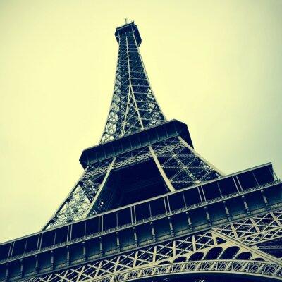 Bild Eiffelturm in Paris, Frankreich mit einem Retro-Effekt