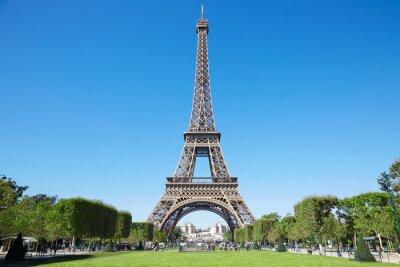 Bild Eiffelturm, sonnigen Sommertag mit blauem Himmel und grünen Bereich des Mars