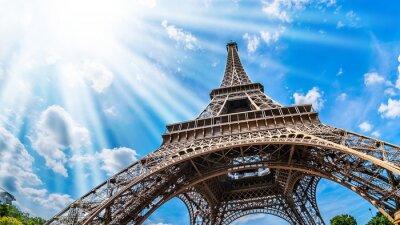 Bild Eiffelturm - Weitwinkel Aufnahme