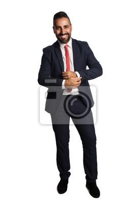 Ein Attraktiver Geschäftsmann In Seinen 40er Jahren Trägt Einen