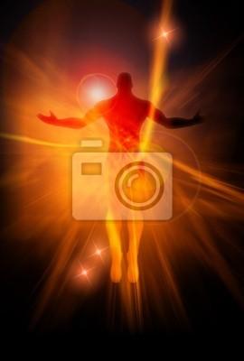 Ein Beispiel für eine männliche Figur auf Energie Burst-Hintergrund